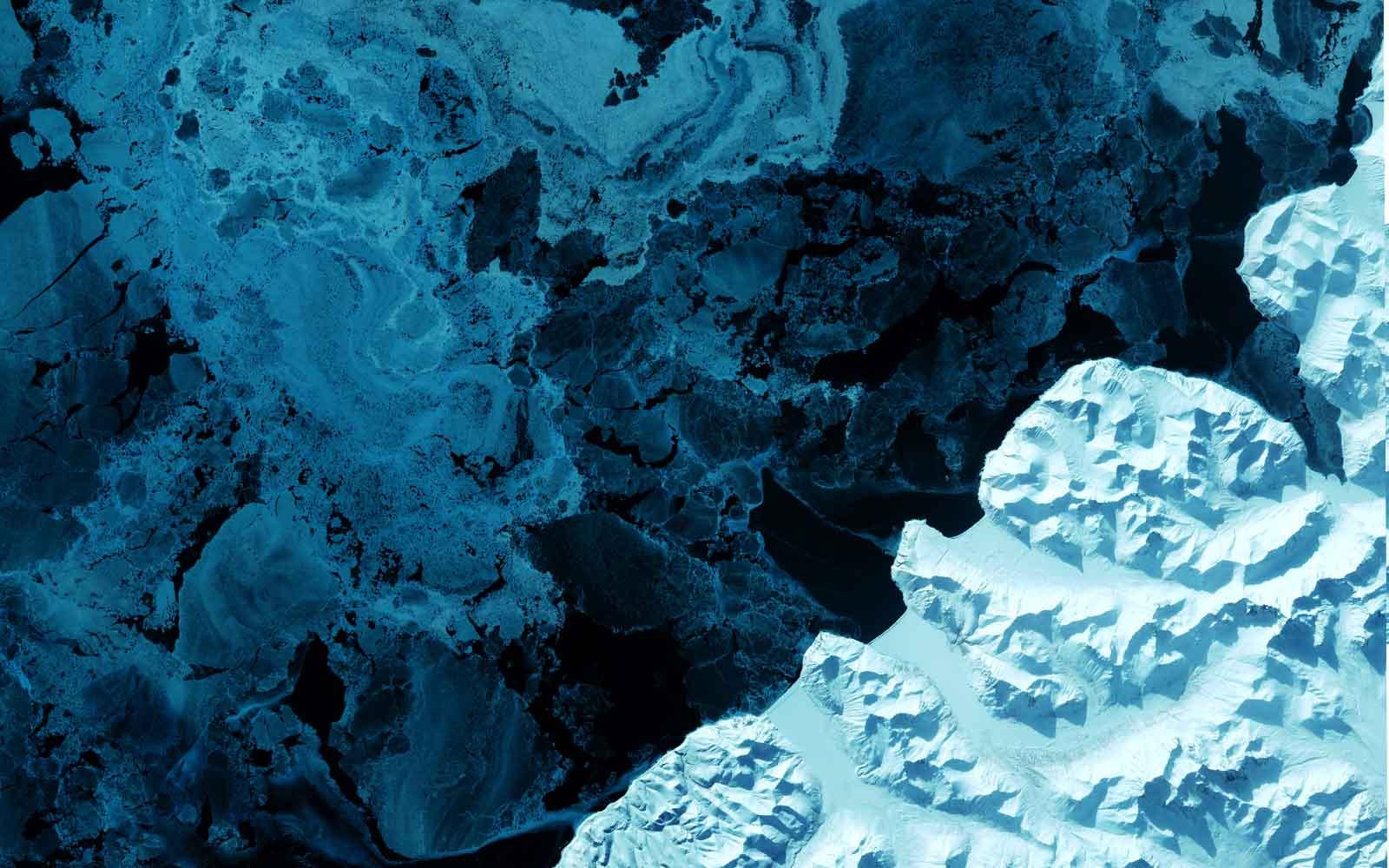 ©USGS - Vue satellite d'un glacier