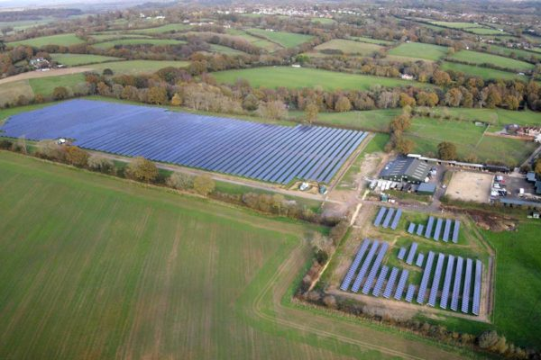Redbridge solar park, Dorset, UK